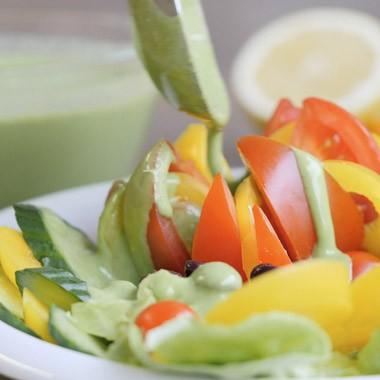 Basilikum-Salatsoße