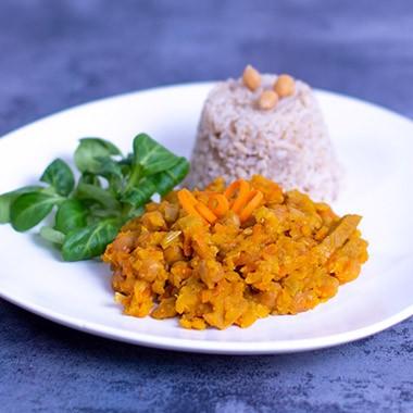Karotten-Lupinen-Curry