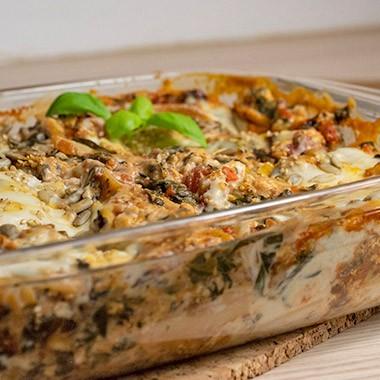 Tofu-Spinat-Lasagne