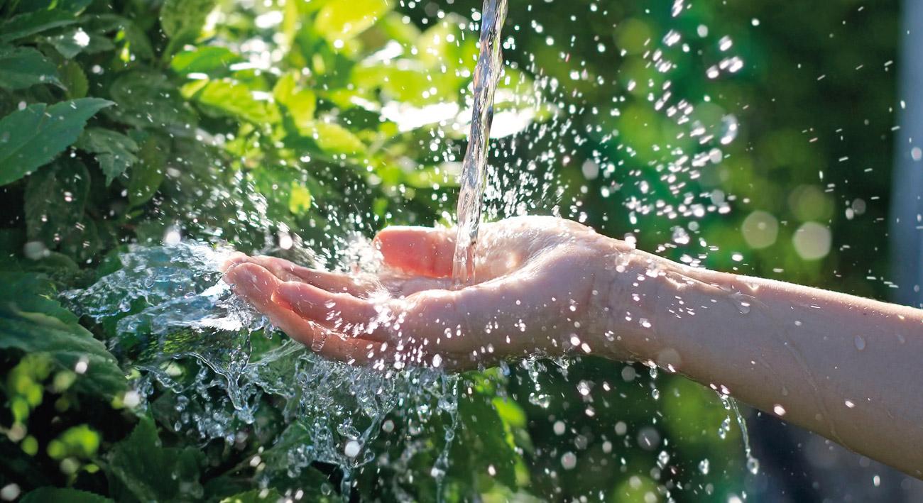 Wasser fassen ...